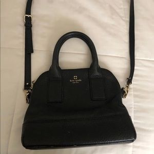 Black Leather Kate Spade double handle Handbag